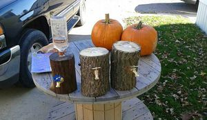Hand made log liqour dispensers $35 each for Sale in Traverse City, MI