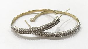 10K Yellow Gold Woman's Diamond Hoop Earrings with approx. 1.04cttw Diamonds $564.99 **Great Buy** for Sale in Tampa, FL