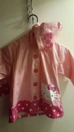 Girls hello kitty rain jacket size 4t for Sale in Tacoma, WA