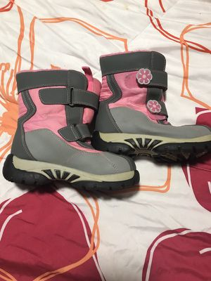 Pink snow boots size 12 girls for Sale in Nashville, TN