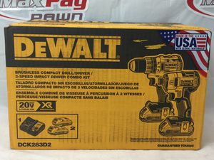 Dewalt (DCK283D2) 20v XR Brushless Compact Drill/Driver Kit (MXP013162) for Sale in Lakeland, FL