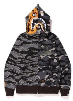 Undefeated x BAPE UNDFTD A Bathing Ape Tiger Shark Half Full Zip Hoodie Camo | medium | brand new for Sale in Annandale, VA