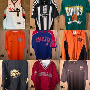 LARGE INVENTORY OF SPORTS TOPS! SIZE S-XXL! SEE PAGE FOR INDIVIDUAL LISTINGS for Sale in Maple Valley, WA