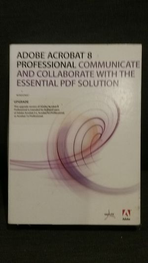 Adobe acrobat 8 professional for Sale in Ferndale, WA