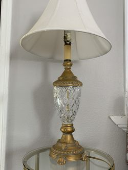 Excelsior Vintage Table Lamp - Antique Style Crystal Gold Colored Light Night Lamp for Sale in Los Angeles,  CA