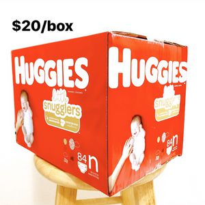 Newborn (Up to 10lbs) Huggies Little Snugglers (84 diapers) - $20/box for Sale in Anaheim, CA