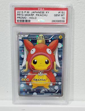 Pikachu Magikarp Poncho PSA 10 Pokemon card for Sale in Pembroke Pines, FL