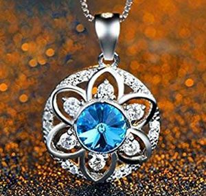 """18k Gold Plated 925 Sterling Silver CZ Flower Pendant Necklace 18"""" for Sale in Wichita, KS"""