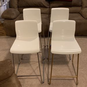 Four White Chairs for Sale in Laurel, MD