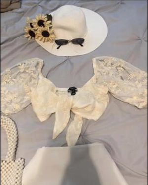 Cream white bralette tube top for Sale in Yucca Valley, CA