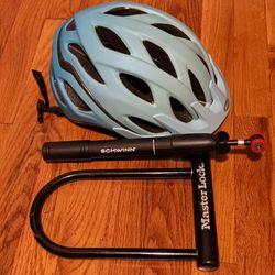 Bike Accessories Helmet, Air Pump, Lock for Sale in Portland,  OR