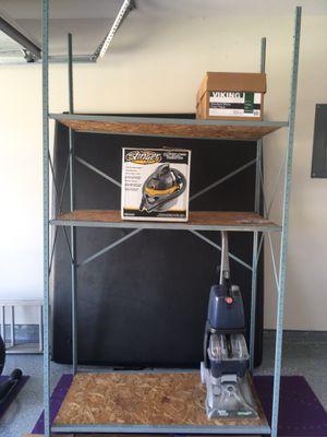 3 Grey metal shelves $120 for Sale in San Antonio, TX