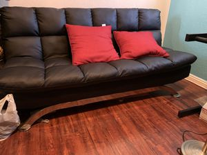 Couch Futon love seat black furniture/ sofá mueble for Sale in Fontana, CA