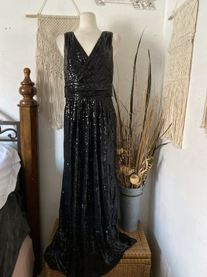 Black long gown/prom sequin dress for Sale in Los Angeles, CA