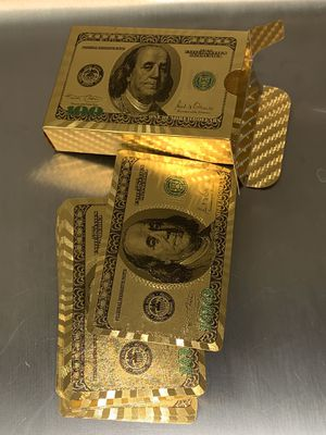 Gold playing cards for Sale in Richmond, VA