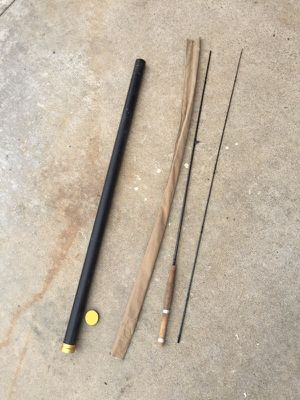 Cortland fly fishing rod with sleeve and metal travel case. 7' line 3/4 for Sale in San Diego, CA