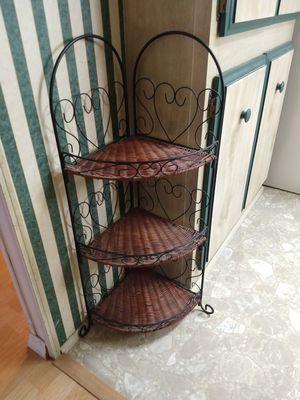 Small wicker corner shelf for Sale in Orlando, FL