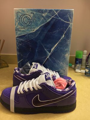 Nike SB dunk low Purple Lobster X Concepts With special box size 9 for Sale in Rockville, MD