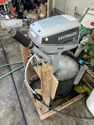 Evinrude outboard motor 6hp 2 stroke run great for Sale in Westminster, CA