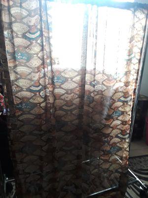 Asian Fan Inspired Sheer Curtain Panel 57in W x 76in L for Sale in El Cajon, CA