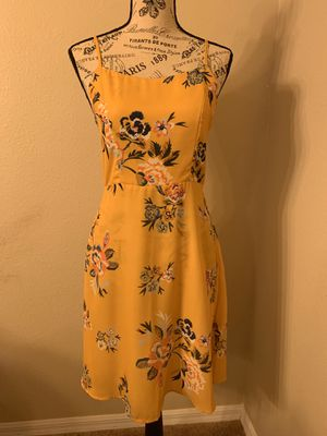 Yellow floral Dress size small for Sale in Land O Lakes, FL