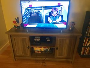Gray entertainment center for sale for Sale in Alameda, CA