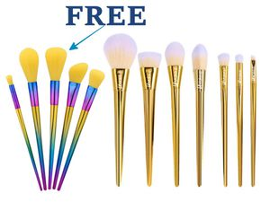 Rose Gold professional makeup brushes and free 5pcs makeup brush set for Sale in Los Angeles, CA