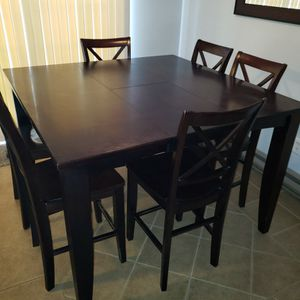 Dining Room Pub Table With 6 Chairs for Sale in North Attleborough, MA