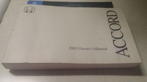 2003 Honda Accord Owners manual for Sale in Spartanburg, SC