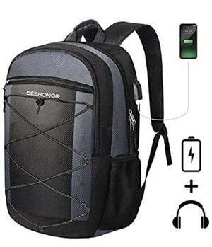 Laptop Backpack, SEEHONOR Travel Laptop Backpack with USB Charging Port, 15.6 Inch Slim Business Computer Backpack for Men Women Water Resistant Anti for Sale in Edison, NJ