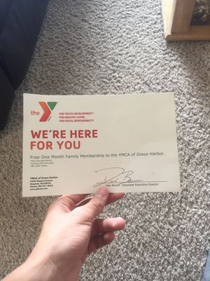One month ymca family membership for Sale in Montesano, WA