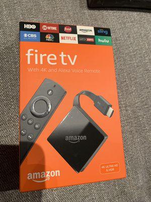Fire tv 4K ultra HD and hdr Alexa voice remote for Sale in Buffalo Grove, IL