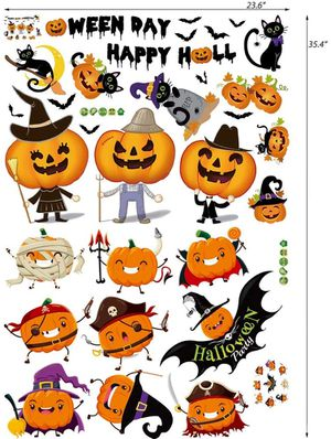 Halloween Window Clings Pumpkins Bats Spider Witch for Sale in Pasadena, CA