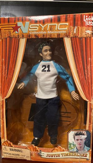 NSYNC JUSTIN TIMBERLAKE DOLL COLLECTIBLE MARIONETTE ACTION FIGURE LIVING TOYZ for Sale in Waterbury, CT
