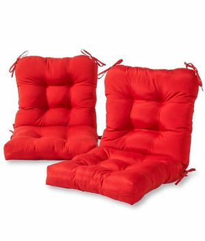 Red outdoor chair cushions for Sale in Artesia, CA