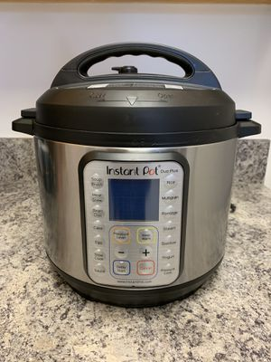 Instant Pot DUO Plus 60, 6 Qt 9-in-1 Multi- Use Programmable Pressure Cooker for Sale in Quincy, MA