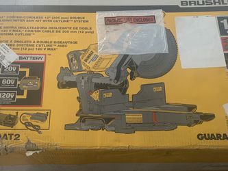 New Dewalt Flexvolt Miter Saw Double Bevel Include 2 6.0 Batteries And Charger for Sale in Germantown, MD