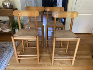 Solid Wood Counter Stools (set of 4) for Sale in Newton, MA