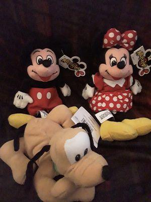 Disney Mickey Minnie Pluto beanie baby bean bag plush for Sale in Chino, CA
