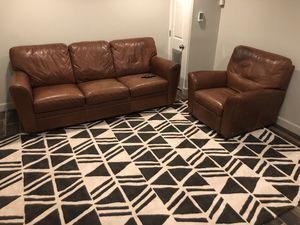 Natuzzi Leather couch and recliner. Excellent condition! for Sale in Washington, DC