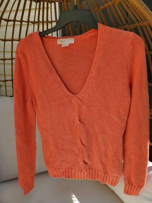 Michael Kors orange sweater women's large for Sale in Lawrenceville, GA