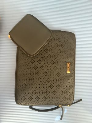Black leather laptop sleeve for Sale in San Diego, CA