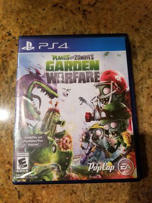 Playstation 4 PS4 Plants vs Zombies Garden Warfare Video Game, NO Scratches for Sale in Boca Raton, FL