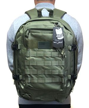 Brand NEW! Olive Green Large Tactical Backpack For Traveling/Everyday Use/Work/Outdoors/Hiking/Biking/Fishing/Sports/Gym/Camping for Sale in Carson, CA