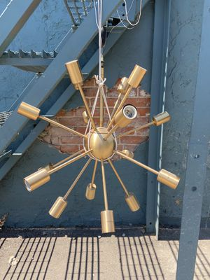 Brushed Bronze 16-Light Sputnik Chandelier for Sale in Denver, CO