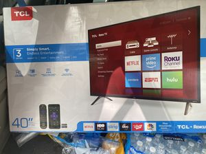 Brand new 40 inch 1080p smart roku tv for Sale in Greenbelt, MD