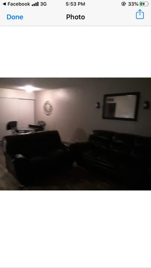 Black leather couches for Sale in Mesa, AZ