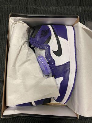 Jordan 1 court purple size 9 men's NEW Deadstock for Sale in Anchorage, AK