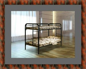 Twin bunk bed frame with mattress for Sale in Mount Rainier, MD