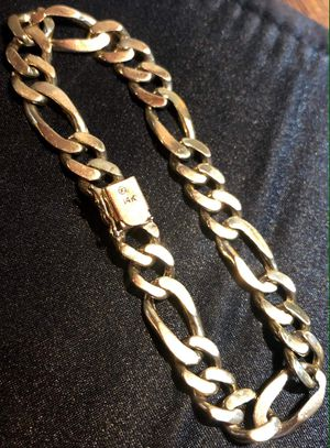 Solid 14k gold Figaro bracelet. Trade for Sale in Lynwood, CA